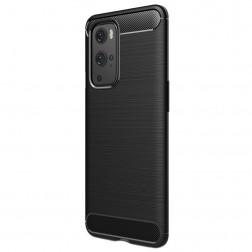 """""""Carbon"""" cieta silikona (TPU) apvalks - melns (OnePlus 9 Pro)"""
