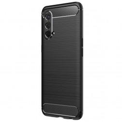 """""""Carbon"""" cieta silikona (TPU) apvalks - melns (OnePlus Nord N10 CE)"""