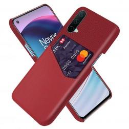 """KSQ"" Shell ādas apvalks - sarkans (OnePlus Nord CE)"