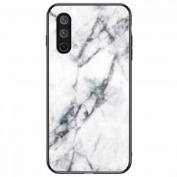 """Marble"" cieta silikona (TPU) apvalks - balts (OnePlus Nord CE)"
