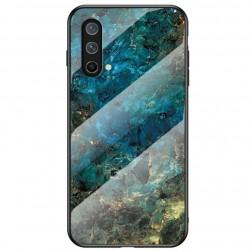"""Marble"" cieta silikona (TPU) apvalks - zils (OnePlus Nord CE)"