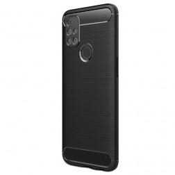 """""""Carbon"""" cieta silikona (TPU) apvalks - melns (OnePlus Nord N10 5G)"""