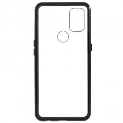 """""""Frame"""" magnētiskais pilnīgi aizsedzams apvalks - dzidrs (OnePlus Nord N10 5G)"""