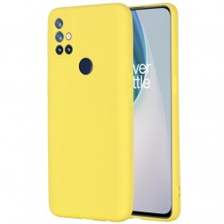 """Shell"" cieta silikona (TPU) apvalks - dzeltens (OnePlus Nord N10 5G)"