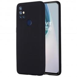 """Shell"" cieta silikona (TPU) apvalks - melns (OnePlus Nord N10 5G)"