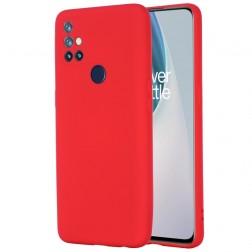 """Shell"" cieta silikona (TPU) apvalks - sarkans (OnePlus Nord N10 5G)"