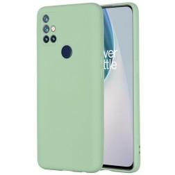 """Shell"" cieta silikona (TPU) apvalks - zaļš (OnePlus Nord N10 5G)"