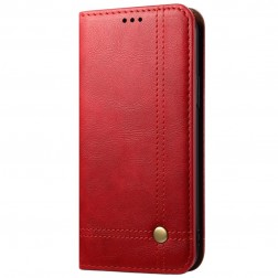 """""""Deluxe"""" atvēramais maciņš - sarkans (OnePlus Nord N100)"""