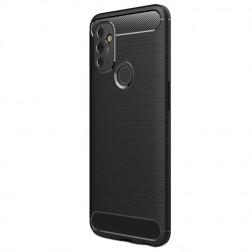 """""""Carbon"""" cieta silikona (TPU) apvalks - melns (OnePlus Nord N100)"""