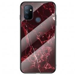 """Marble"" cieta silikona (TPU) apvalks - sarkans (OnePlus Nord N100)"