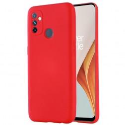 """Shell"" cieta silikona (TPU) apvalks - sarkans (OnePlus Nord N100)"