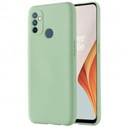 """Shell"" cieta silikona (TPU) apvalks - zaļš (OnePlus Nord N100)"