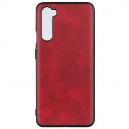 Slim Leather ādas apvalks - sarkans (OnePlus Nord)
