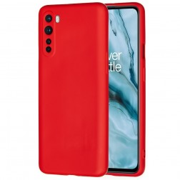"""Shell"" cieta silikona (TPU) apvalks - sarkans (OnePlus Nord)"