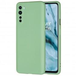 """Shell"" cieta silikona (TPU) apvalks - zaļš (OnePlus Nord)"