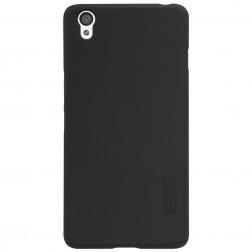 """Nillkin"" Frosted Shield apvalks - melns + ekrāna aizsargplēve (OnePlus X)"
