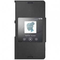"""Sony"" Style Cover Window atvērams maciņš - melns (Xperia Z3 Compact)"
