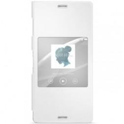 """Sony"" Style Cover Window atvērams maciņš - balts (Xperia Z3)"