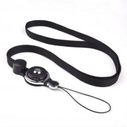 """Pattern"" telefona virviņa (pakaramais) - melns"