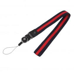"""""""Pattern"""" telefona virviņa (pakaramais) - zils / sarkans"""