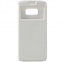 """""""Roar"""" Noble atvēramais futrālis - balts (Galaxy S8)"""