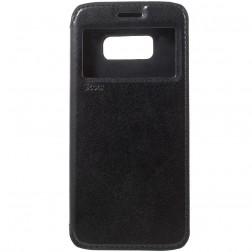 """""""Roar"""" Noble atvēramais futrālis - melns (Galaxy S8)"""