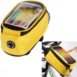 """Roswheel"" - universāls telefona futrālis velosipēdam - dzeltens (XL)"