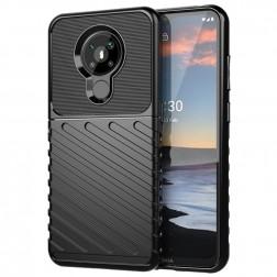 """""""Rumble"""" cieta silikona (TPU) apvalks - melns (Nokia 5.3)"""