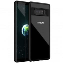 """""""IPAKY"""" Frame apvalks - dzidrs apmales melnā krāsā (Galaxy Note 8)"""