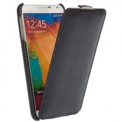 Vertikāli atvēramais futrālis - melns (Galaxy Note 3)
