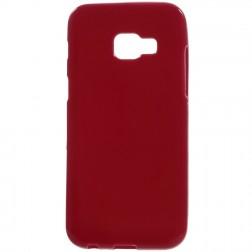 Cieta silikona (TPU) apvalks - sarkans (Galaxy A5 2017)
