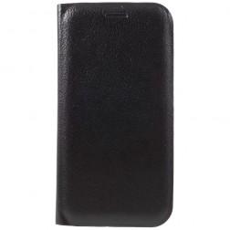 """""""Smart Wallet"""" atvēramais ādas maciņš - melns (Galaxy A3 2017)"""