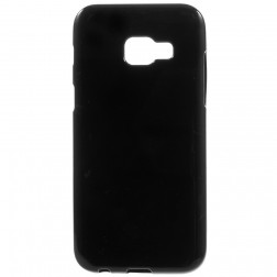 Cieta silikona (TPU) apvalks - melns (Galaxy A5 2017)