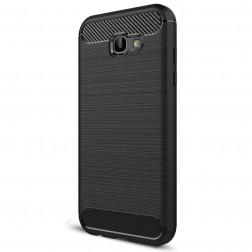 """Carbon"" cieta silikona (TPU) apvalks - melns (Galaxy A7 2017)"