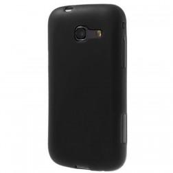 Cieta silikona apvalks - melns, matēts (Galaxy Trend Lite)