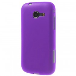 Cieta silikona apvalks - violeta, matēts (Galaxy Trend Lite)