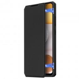 """Dux Ducis"" Skin X atvērams maciņš - melns (Galaxy A42 5G)"