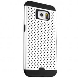 """""""Bubble"""" pastiprinātas aizsardzības apvalks - balts (Galaxy S6)"""