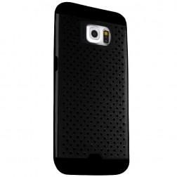 """""""Bubble"""" pastiprinātas aizsardzības apvalks - melns (Galaxy S6)"""