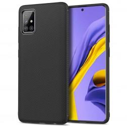 """Lenuo"" cieta silikona (TPU) apvalks - melns (Galaxy A51)"