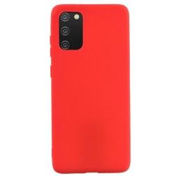 """Shell"" cieta silikona (TPU) apvalks - sarkans (Galaxy A02s)"