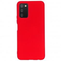 """Shell"" cieta silikona (TPU) apvalks - sarkans (Galaxy A03s)"