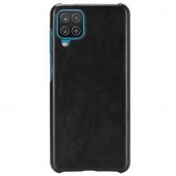 Soft Slim ādas apvalks - melns (Galaxy A12)