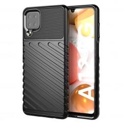 """""""Twill"""" cieta silikona (TPU) apvalks - melns (Galaxy A12)"""