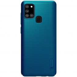 """""""Nillkin"""" Frosted Shield vāciņš - zils (Galaxy A21s)"""