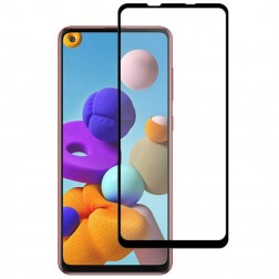 """Mocolo"" Tempered Glass ekrāna aizsargstikls 0.26 mm - melns (Galaxy A21s)"