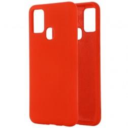 """Shell"" cieta silikona (TPU) apvalks - sarkans (Galaxy A21s)"
