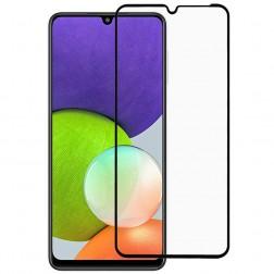 """""""Rurihai"""" Tempered Glass pilnīgi aizsedzams ekrāna aizsargstikls 2.5D - melns (Galaxy A22 4G)"""