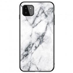 """Marble"" cieta silikona (TPU) apvalks - balts (Galaxy A22 5G)"
