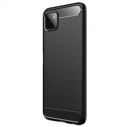 """Carbon"" cieta silikona (TPU) apvalks - melns (Galaxy A22 5G)"